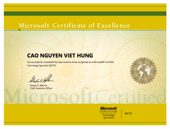 Microsoft Certified Technology Specialist Mcts Philipngo