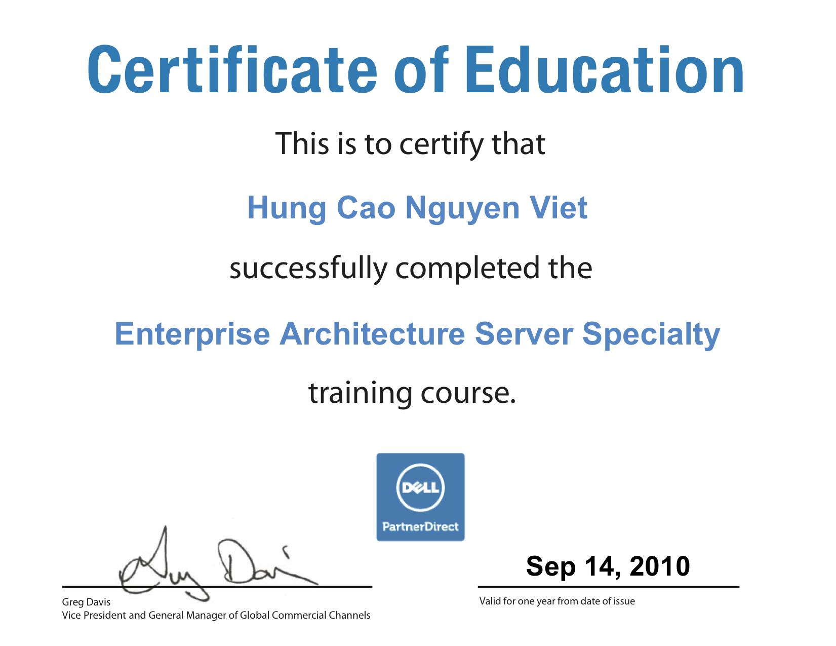 Dell enterprise architecture server specialty certificate dell enterprise architecture server specialty certificate philiphungcao 1betcityfo Images