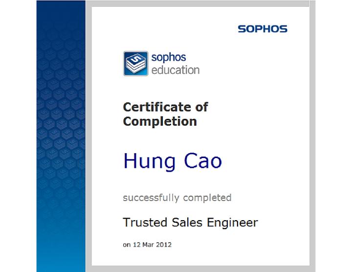Sophos Trusted SalesEngineer