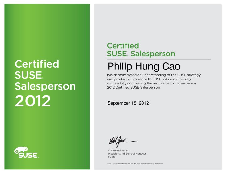 Certified SUSE Salesperson (CSS)