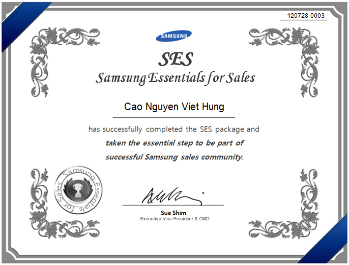 Samsung Essentials for Sales (SES)