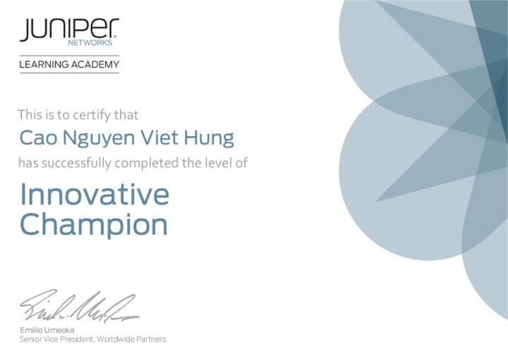 Juniper Networks InnovativeChampion