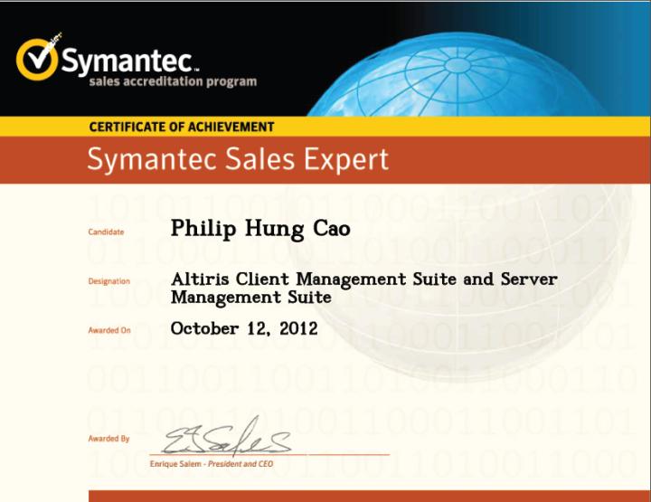 Symantec Sales Expert (SSE) – Altiris Client Management Suite and Server ManagementSuite