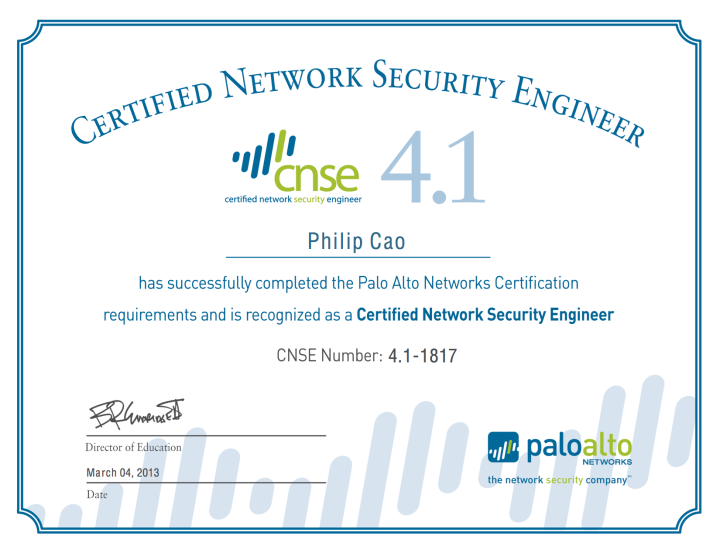 Palo Alto Networks – Certified Network Security Engineer (CNSE) 4.1 ...