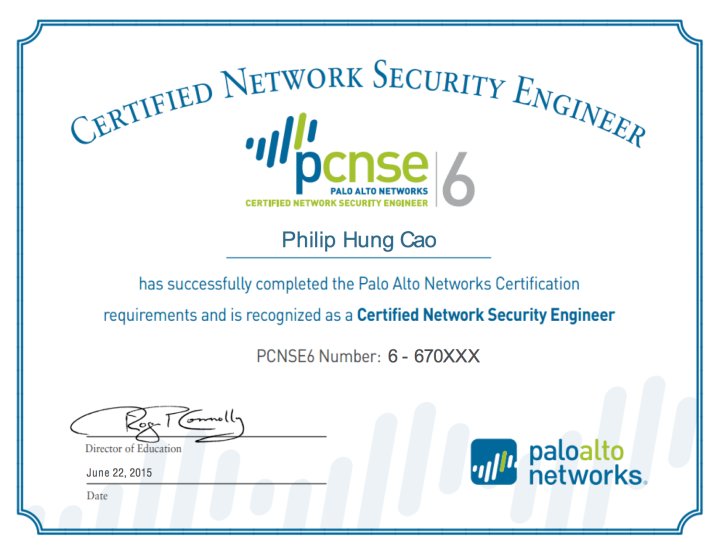 Palo Alto Networks Certified Network Security Engineer 6 (PCNSE6 ...
