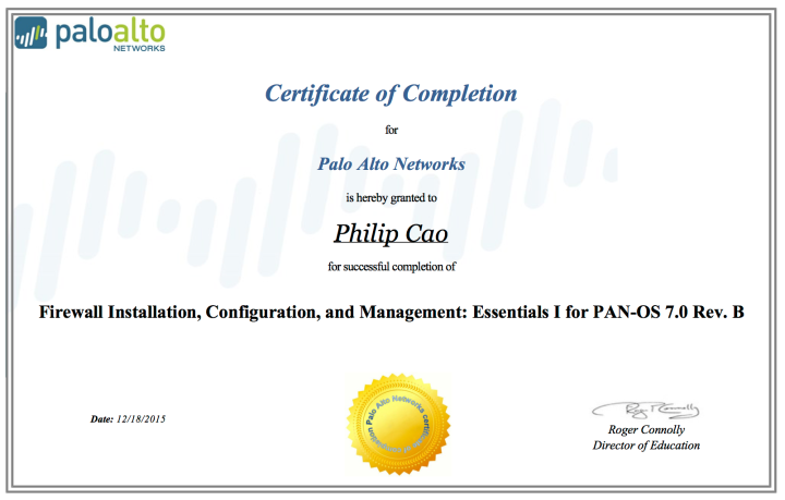 [2015] Philip Hung Cao - Firewall Installation, Configuration, and Management- Essentials I for PAN-OS 7.0 Rev. B