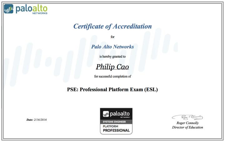 Palo Alto Networks PSE: ProfessionalPlatform
