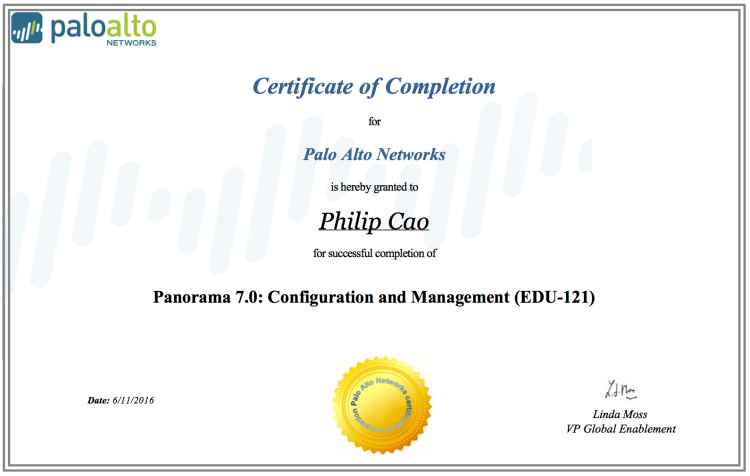 [2016] Philip Hung Cao - Panorama 7.0 - Configuration and Management (EDU-121)