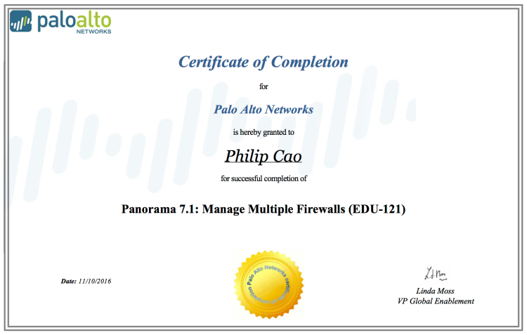 2016-philip-hung-cao-panorama-7-1-manage-multiple-firewalls-edu-121-certificate-of-completion