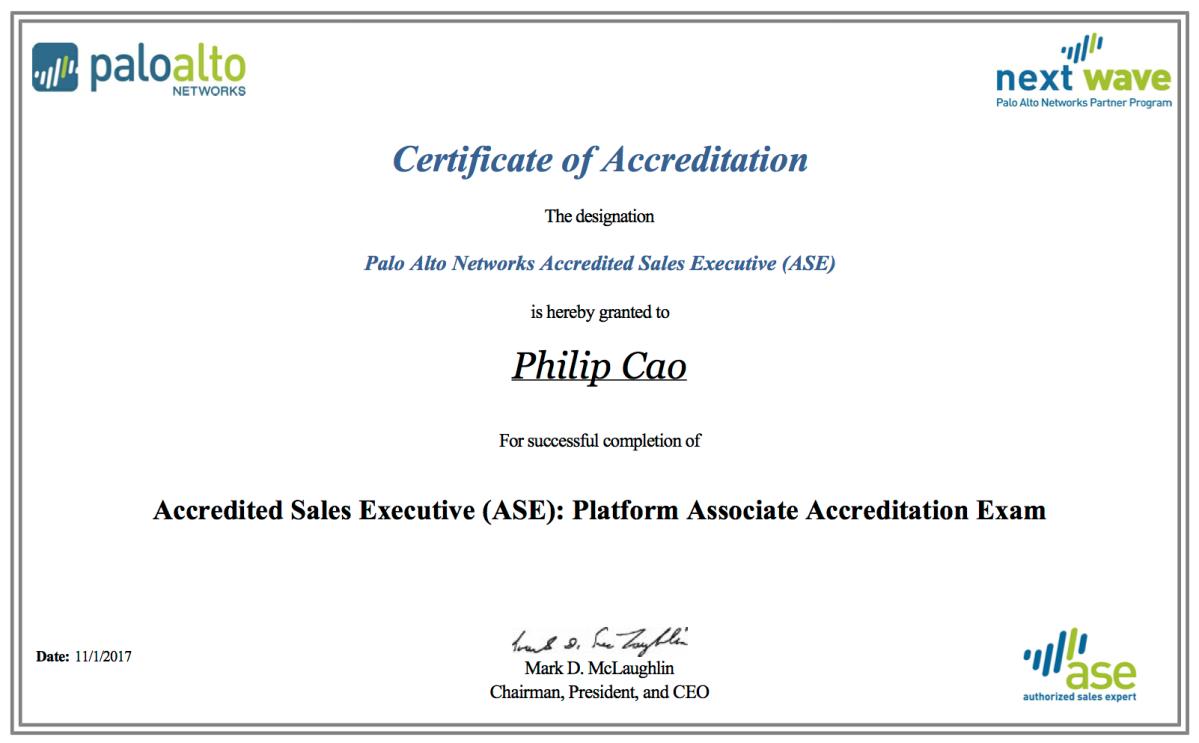 Accredited Sales Executive Ase Platform Associate Accreditation