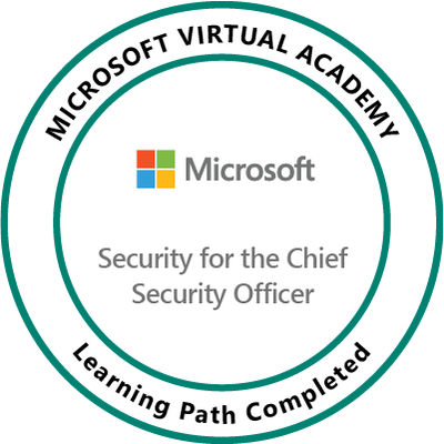 [2018] Philip Hung Cao - Microsoft Virtual Academy Security for the Chief Security Officer (CSO) Badge