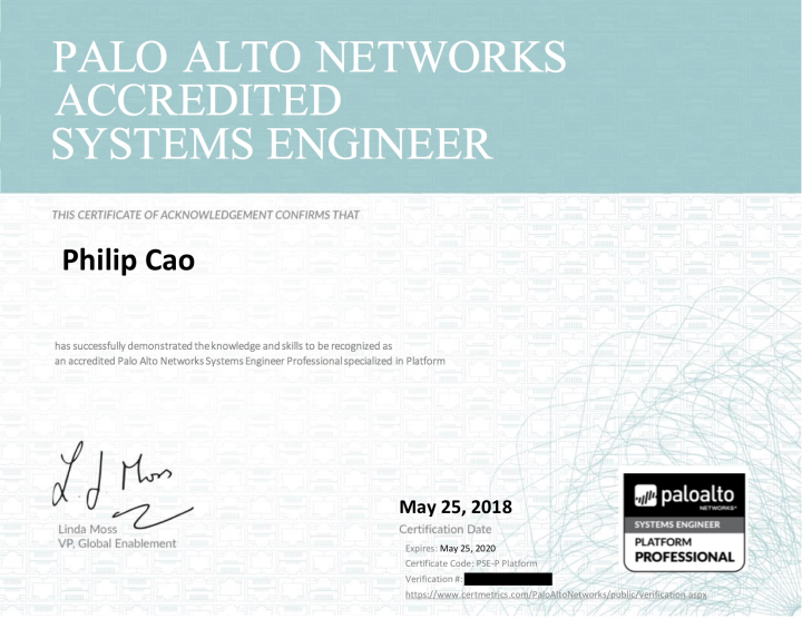 Palo Alto Networks Systems Engineer Professional: Platform