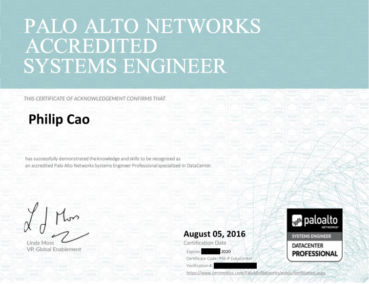 Palo Alto Networks Systems Engineer Professional: DataCenter
