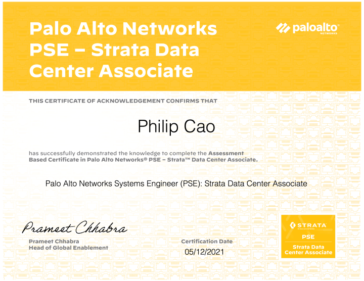 Palo Alto Networks Systems Engineer (PSE): Strata Data Center Associate (May 2021Update)